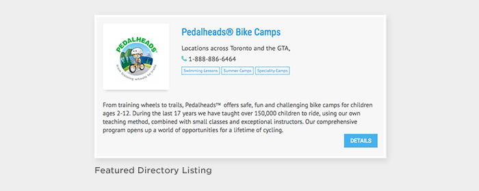 Featured Directory Listing