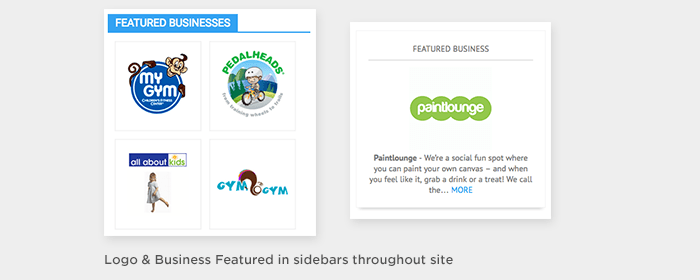Sidebar Features