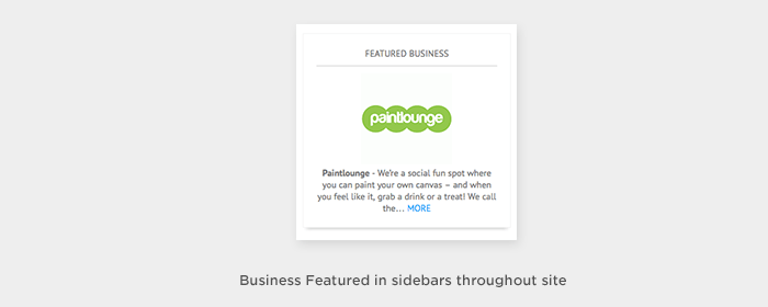 Sidebar Business Feature