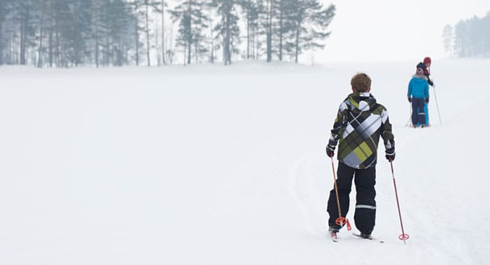 Cross-country nordic ski trails