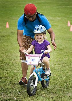 Learning a two wheel bike