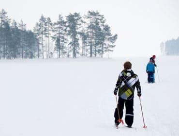 Cross-country nordic ski trails