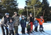 Julie Cole and Family Skiing