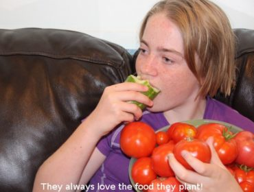 Kids love the food they plant