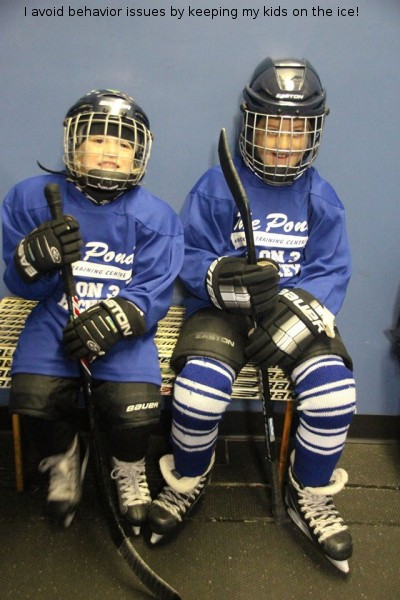 Avoid behaviour issues by keeping my kids on the ice