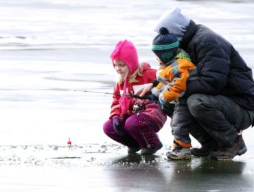 Family Ice Fishing Ontario