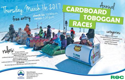 Cardboard Toboggan Races at the ROC