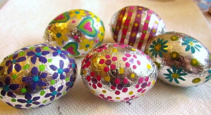 foil covered easter eggs