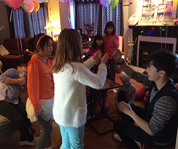 kids with magician at party GTA