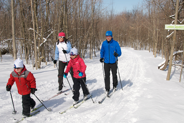 Cross-country skiing scenic caves