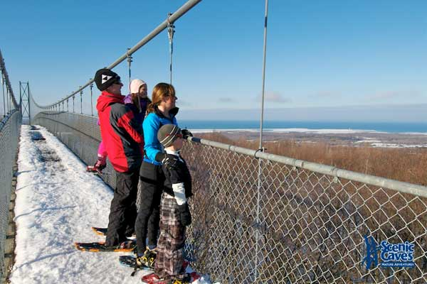 snow shoe at scenic caves