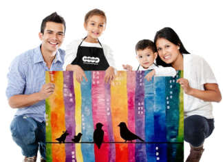 Win a Family painting Worskhop from paintlounge
