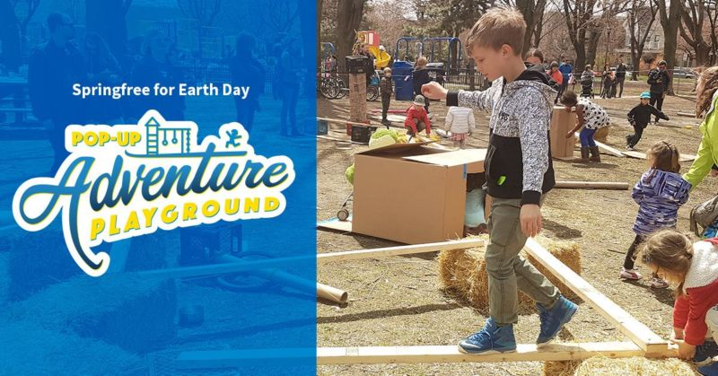 Springfree for Earth Day POP-UP Adventure Playground