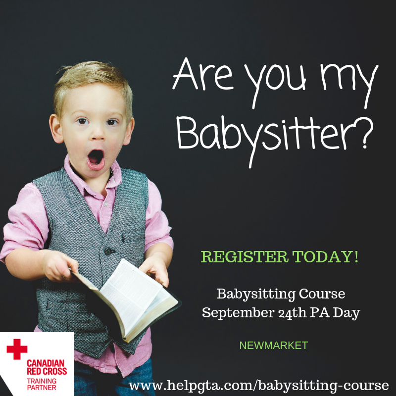Babysitting Course-Newmarket PA Day Sept. 24th