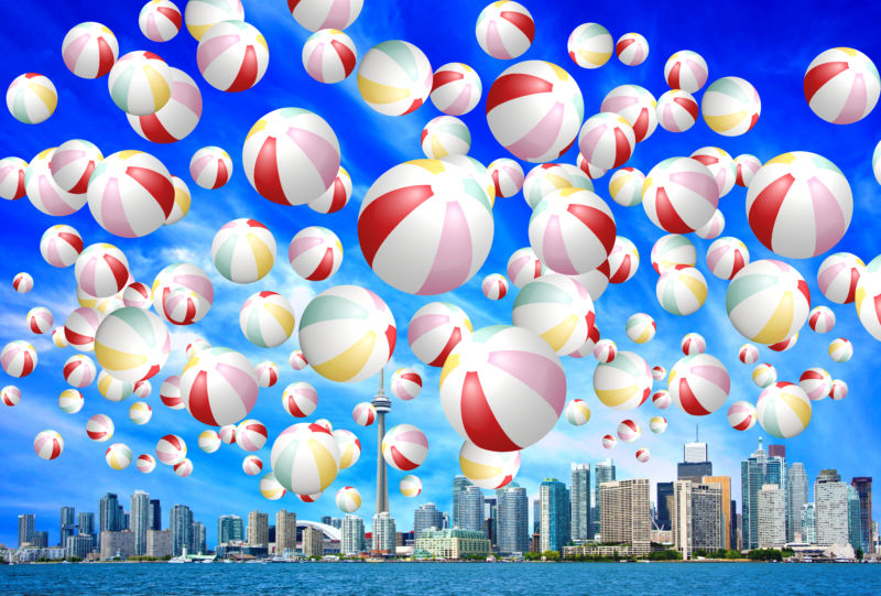 Beach Balls Redpath Festival