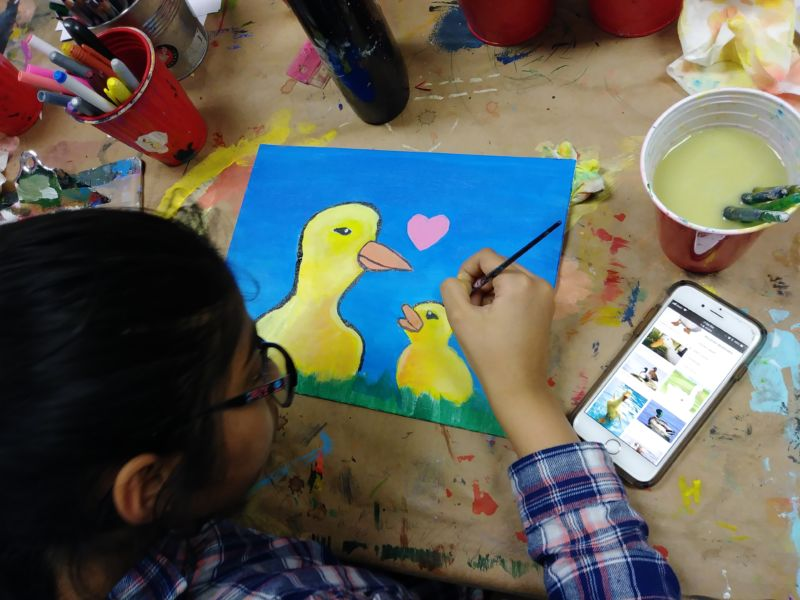 Art Foundations for Kids at Winged Canvas