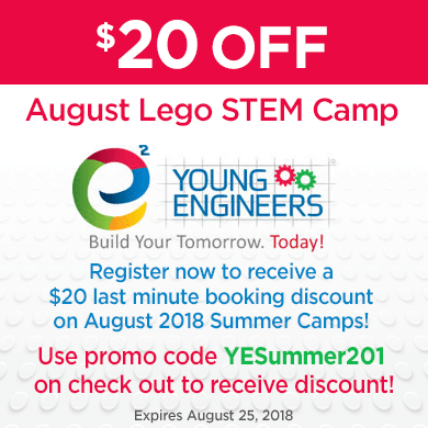 e2 Young Engineers August Summer Camps