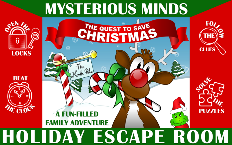 The Quest to Save Christmas Family Escape Room