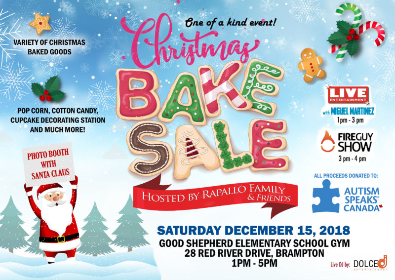Christmas Bake Sale Event for Autism Speaks