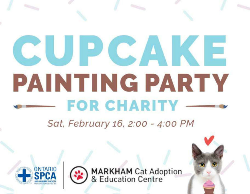 Cupcake Painting Party for Charity