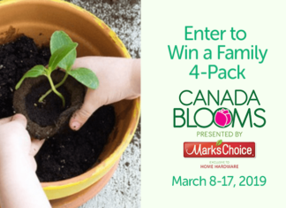 Win tickets to Canada Blooms