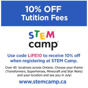 STEM Camp 10% OFF Coupon