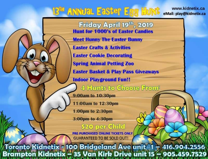 Kidnetix 13th Annual Easter Egg Hunt