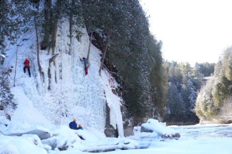 ice climbing in elora