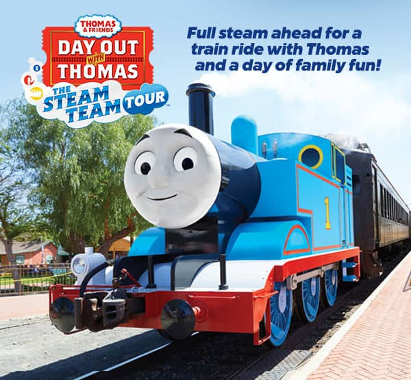 Win a Family 4-pack to Day out with Thomas™ Steam Team Tour 2019