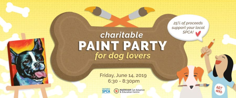 Dog Painting Party at Winged Canvas Art Hub