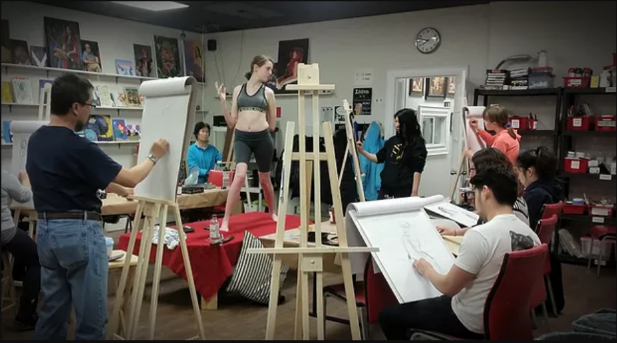 Open Life Drawing Session in Winged Canvas Art Hub