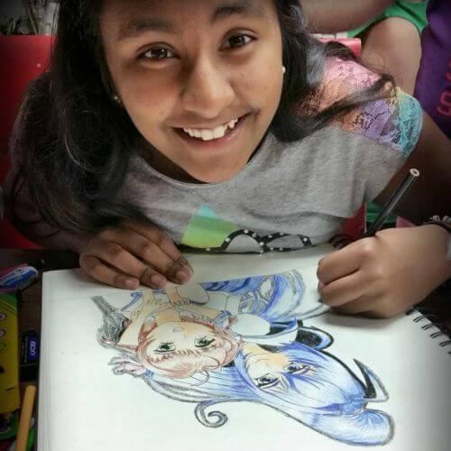 Cartooning & Anime classes at Winged Canvas Art Hub