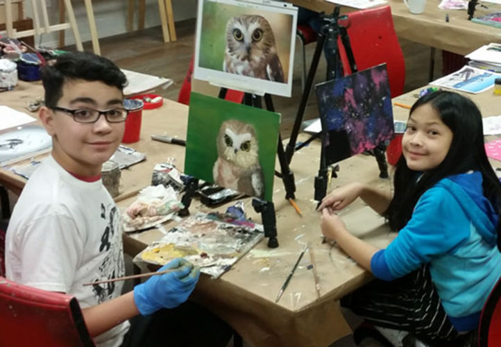 Art Foundations Class for Kids at Winged Canvas Art Hub