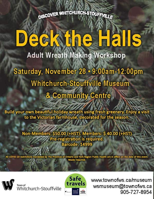 """Deck the Halls"" Adult Wreath-Making Workshop"
