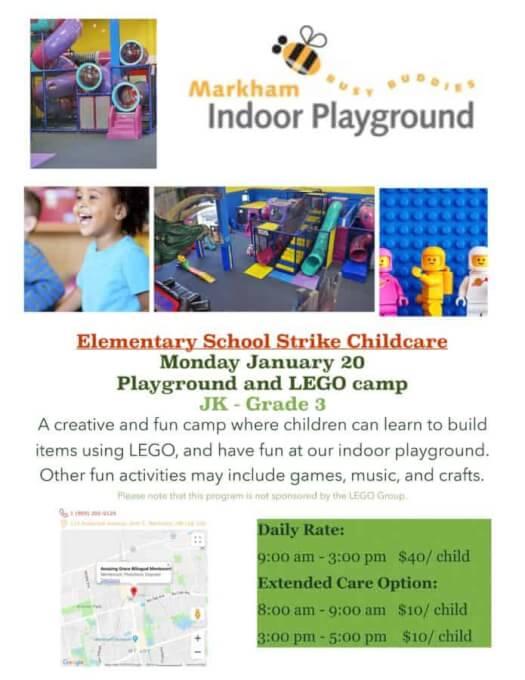 Busy Buddies Playground School Strike Camp