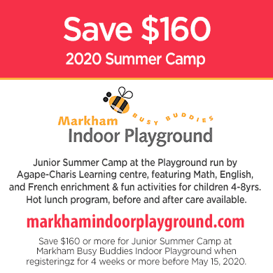 Save $160 on Markham Summer Camps