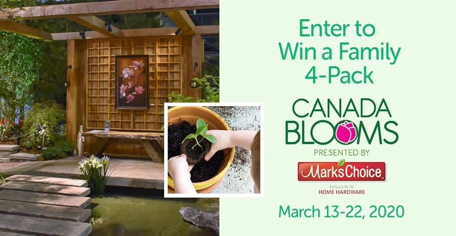 Win a Family 4-Pack to Canada Blooms