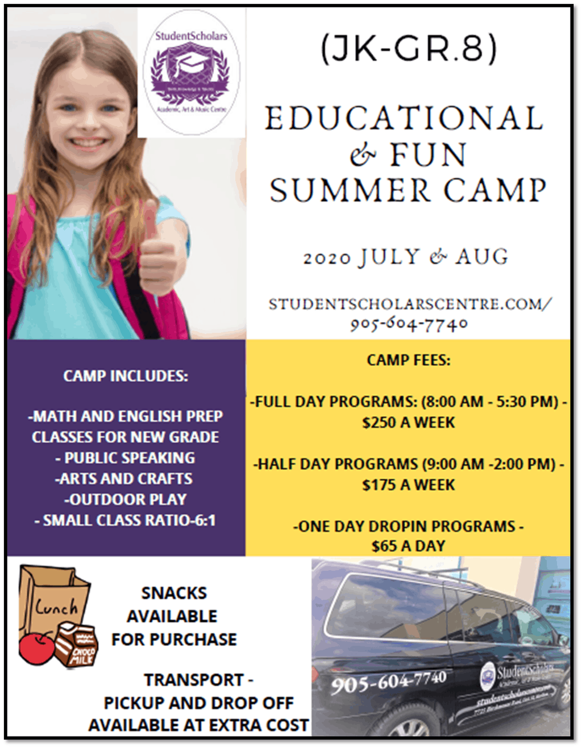 StudentScholars Summer Camp