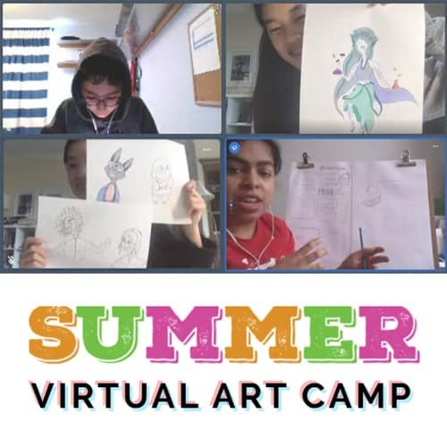 Virtual Summer Art Camp for Kids at Winged Canvas