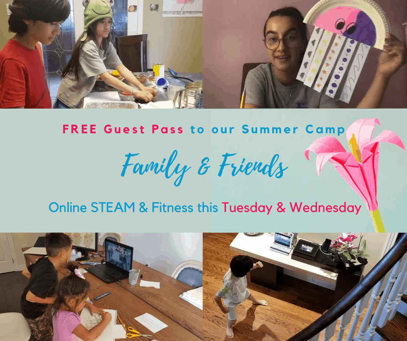 FREE Guest Pass: STEAM, Fitness & Fun Online Camp