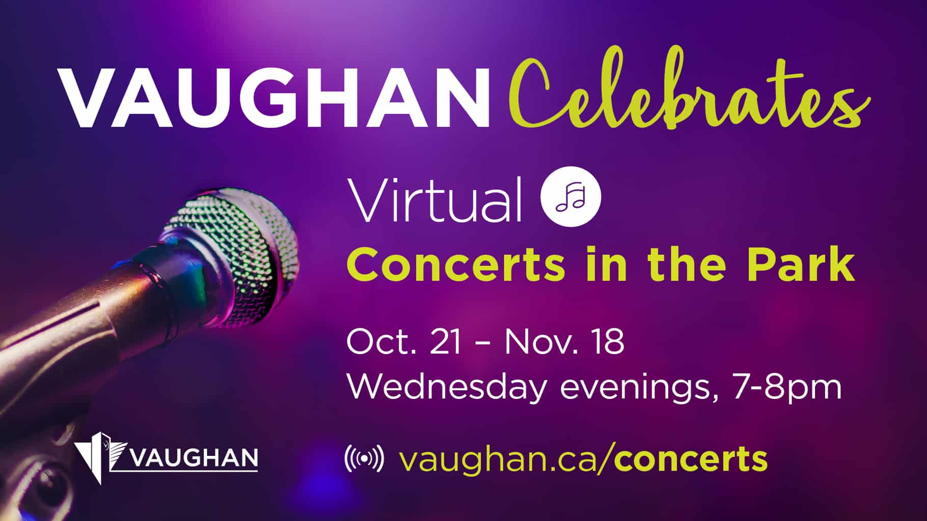 Vaughan Celebrates Virtual Concerts in the Park