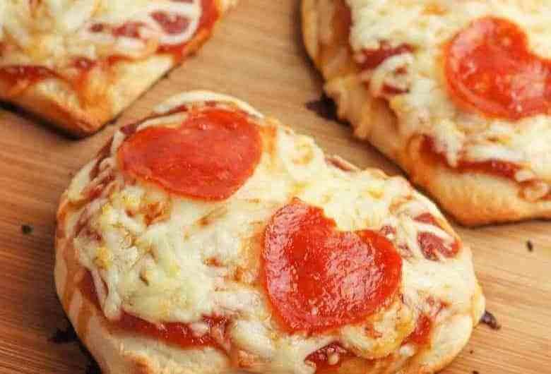 Heart Shaped Pizzas from HomeFreshIdeas.com