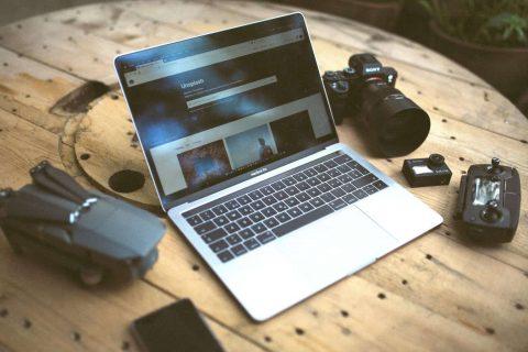 Camera + Laptop - unsplashed