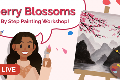May (PM) Painting Workshop - Cherry Blossom