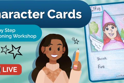 November (AM) Art Workshop - Character Cards